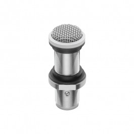 Omnidirectional fixed charge condenser boundary microphone White.